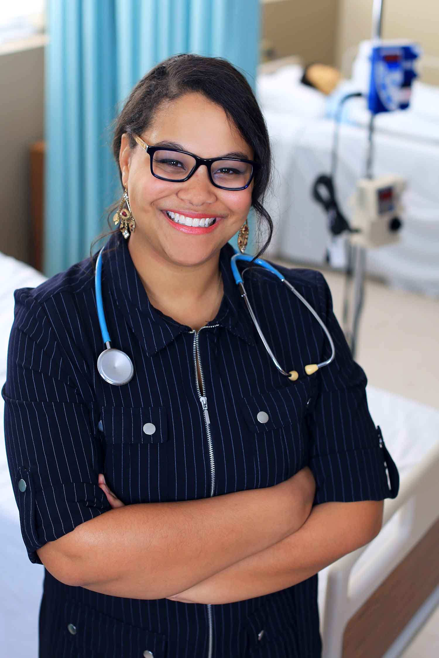 student in nursing uniform