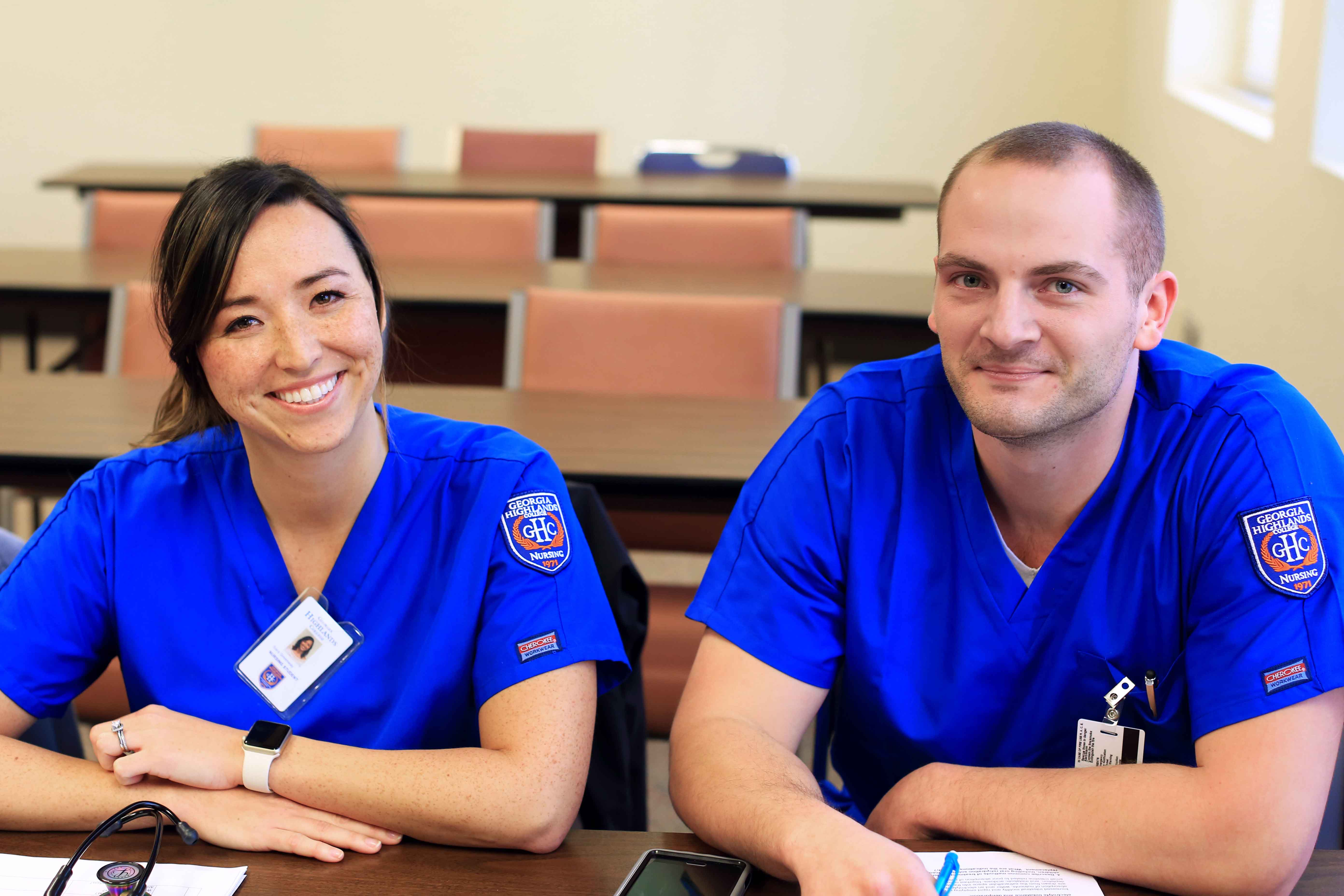 two nursing students