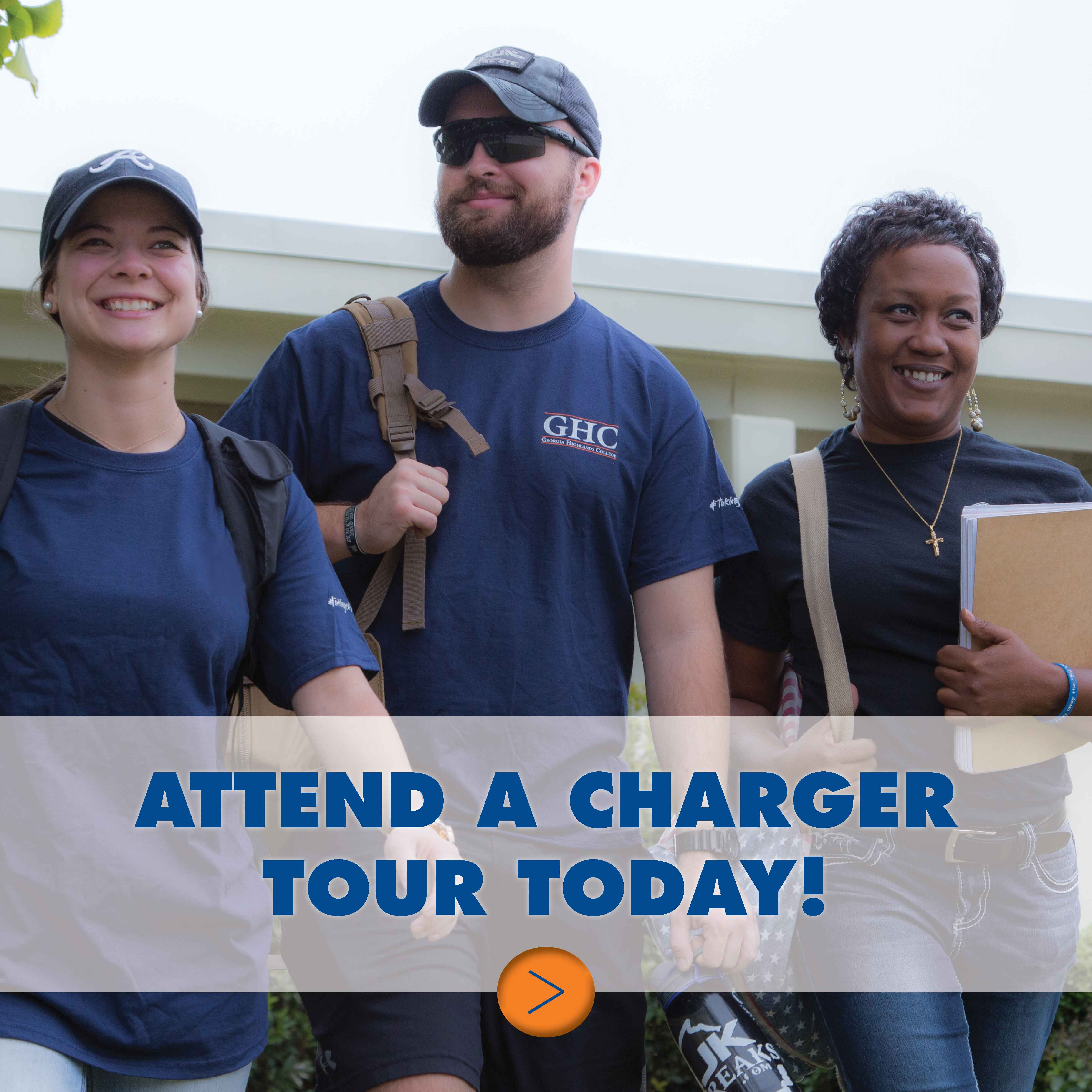 Attend a charger tour. Take charge of your future! New Charger tours are the best way to visit GHC today.
