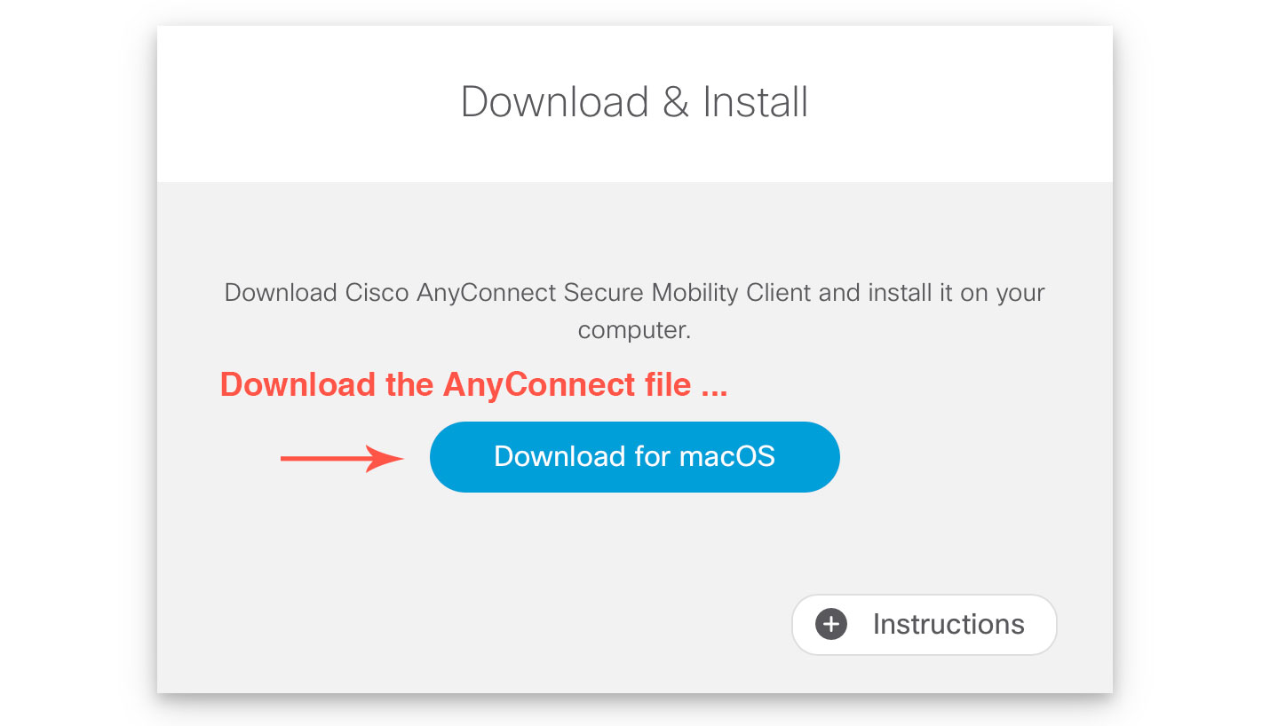 Download the AnyConnect file.
