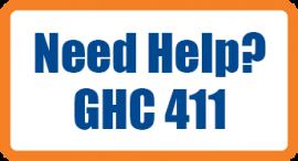 Need Help? GHC 411 logo