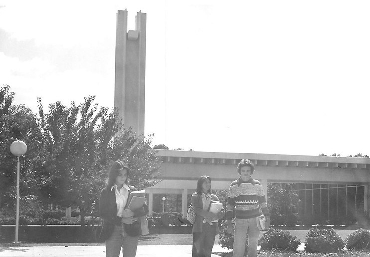 Floyd Junior College staff members for the Six Mile Post in 1974
